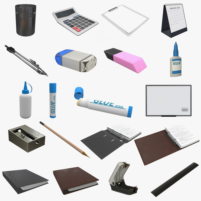office accessories 3D model