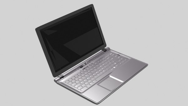 3D laptop office model