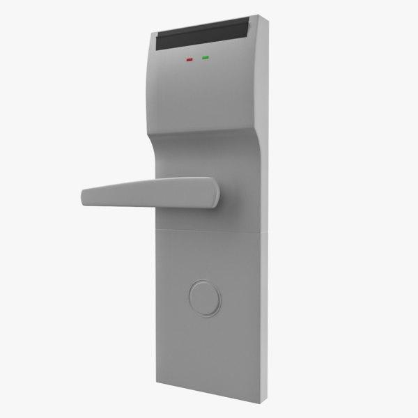 hotel door handle 3D model