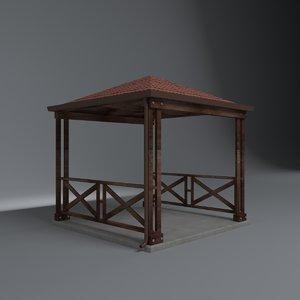 garden picnic 3D model