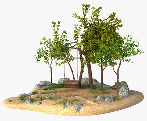swing tree 3D model