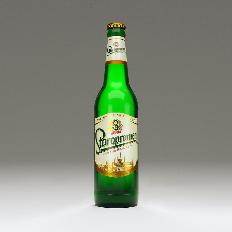 staropramen bottle 3D model