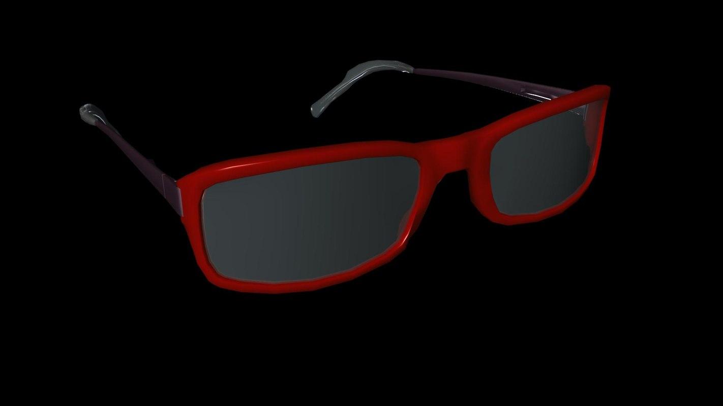 eye glass eyeglasses 3D model