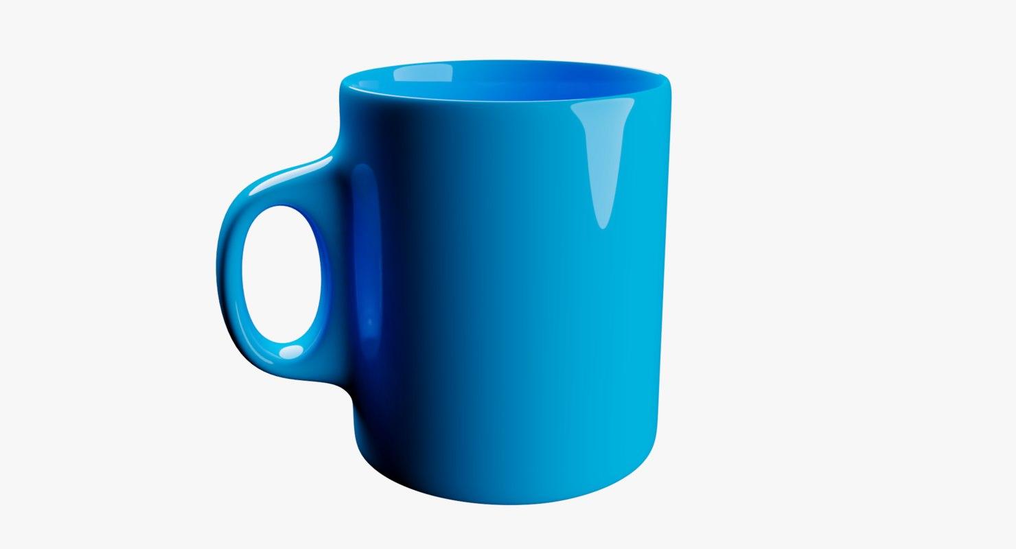 3D model cup aquablue