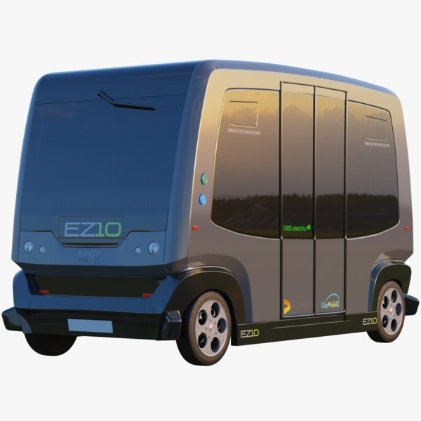 3D model ez10 bus