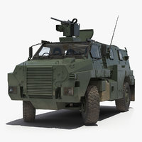 Bushmaster Protected Infantry Vehicle Rigged 3D Model