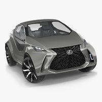 3D concept lexus lf-sa rigged model
