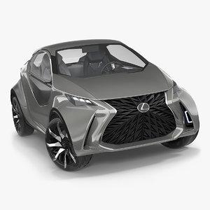 3D concept lexus lf-sa rigged model