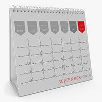 desk calendar 2018 3D model