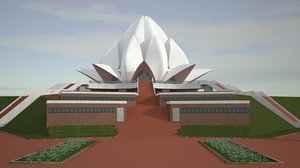 3D realistic indian temple architecture
