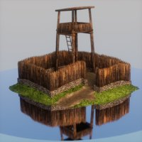 strategy building tower 3D model