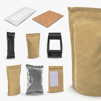 Food Packages 3D Models Collection 2