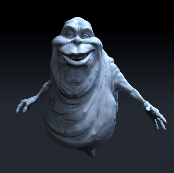 ghostbusters slimer polygons 3D