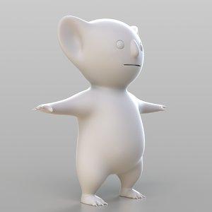 cartoon koala 3D model