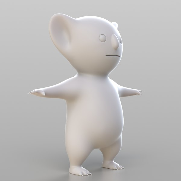 cartoon koala 3D model