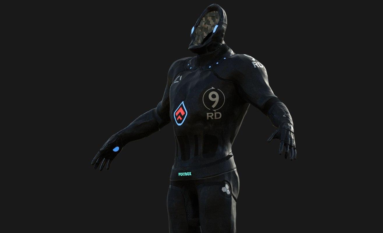 3D character sci-fi suit model