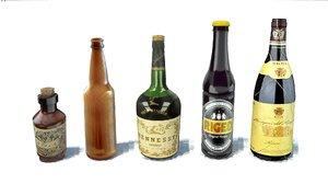 pack bottles 3D model