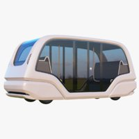 3D electric pod bus