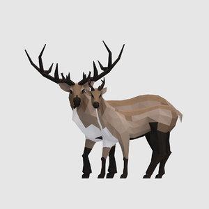 reindeers male female 3D