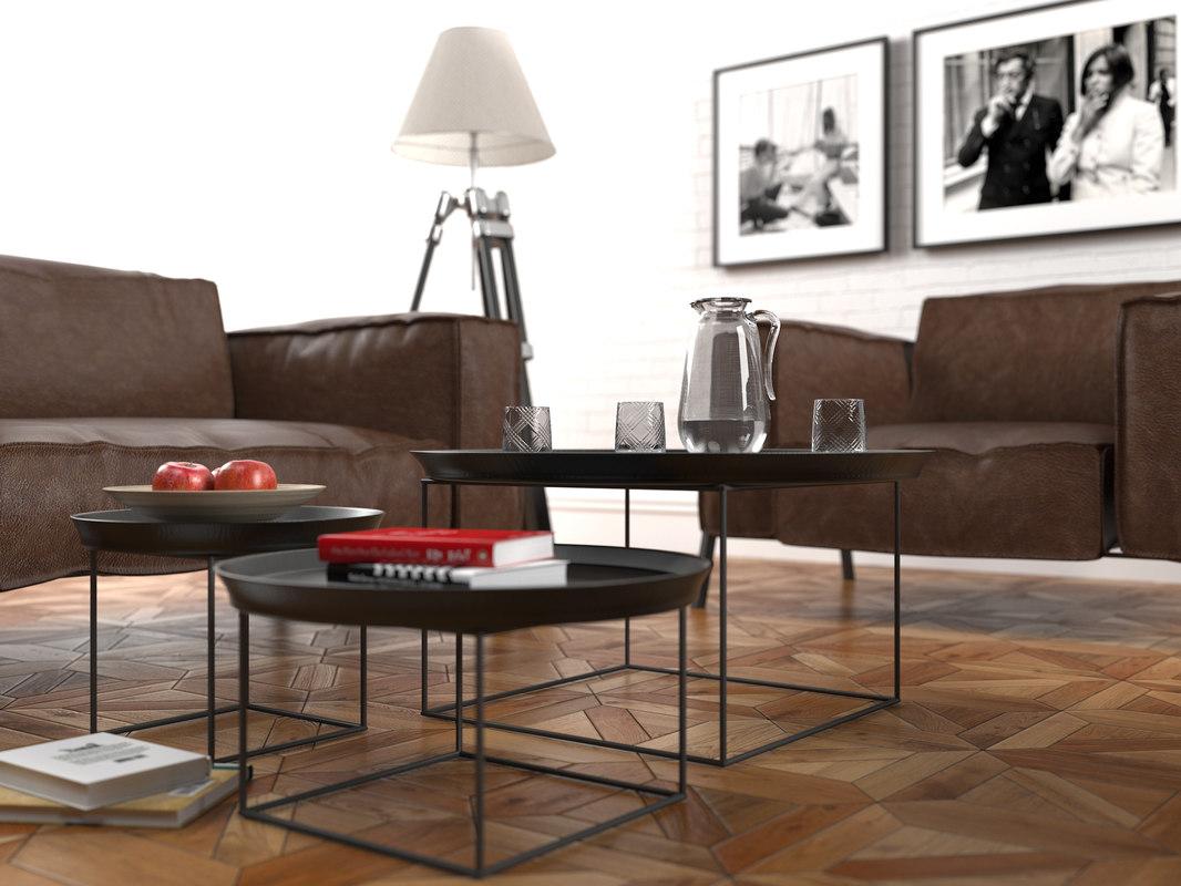 3D basio furniture set rolf benz