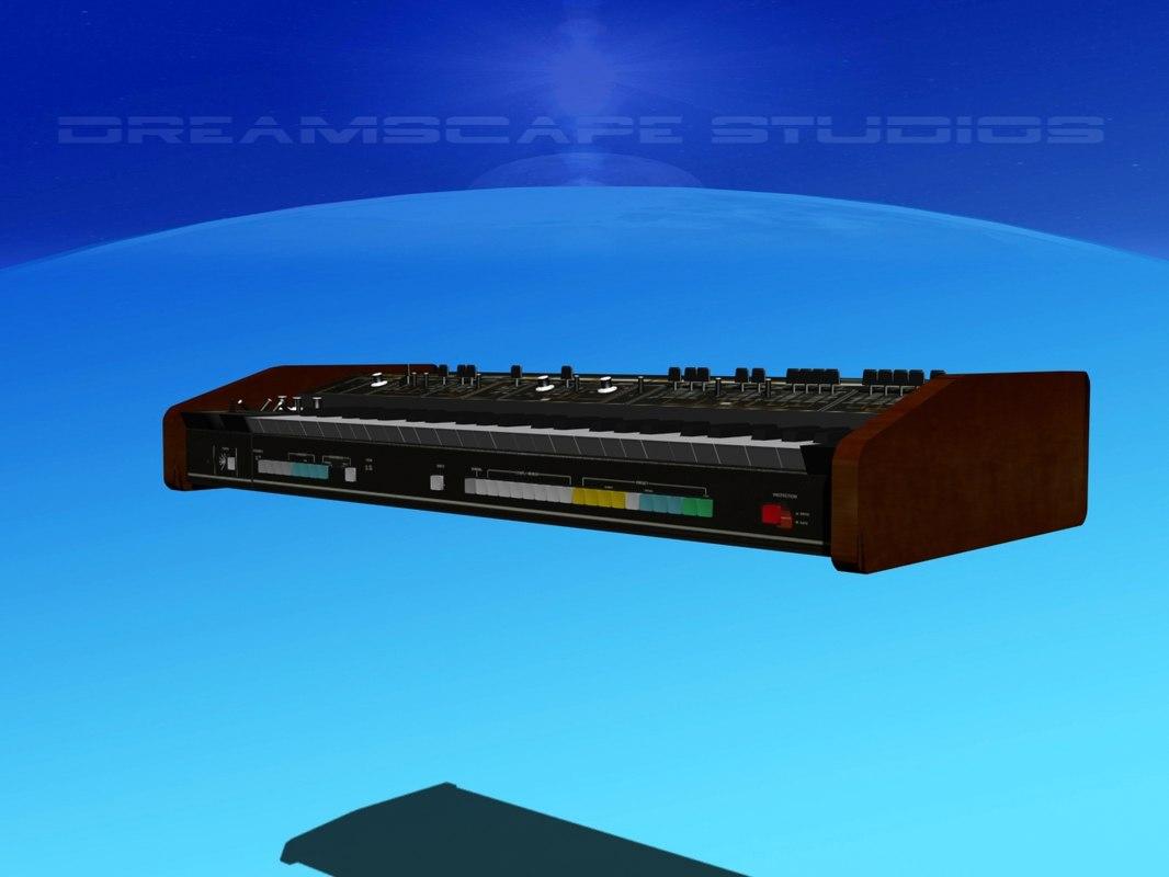 3D synthesizers vangelis model