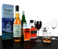 3D different whiskey glasses beer