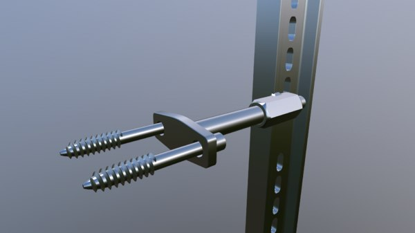 custom screw holder 3D model