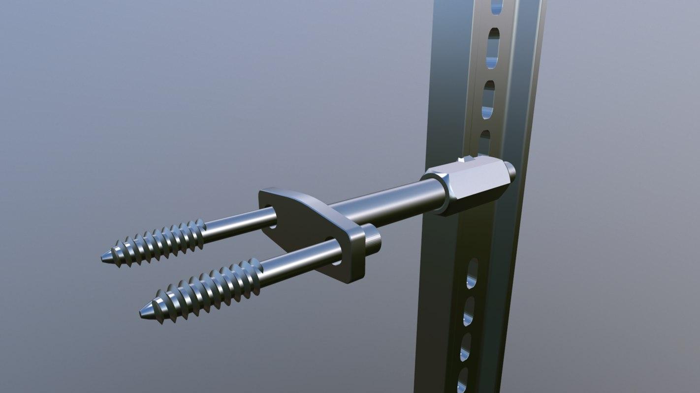 custom screw holder 3D model