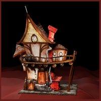 3D house cartoon inventor