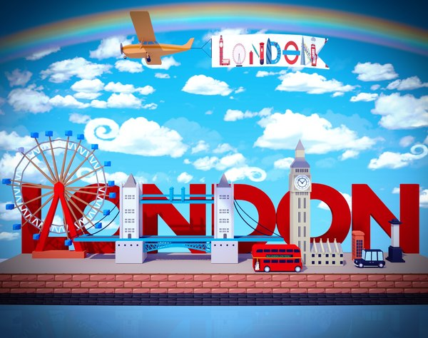 3D model london games city