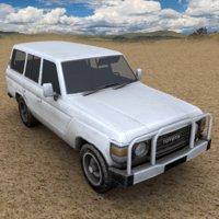 3D 1980 toyota landcruiser