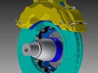 Car Brake plate 3D model