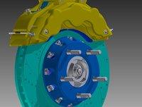 car brake 3D model