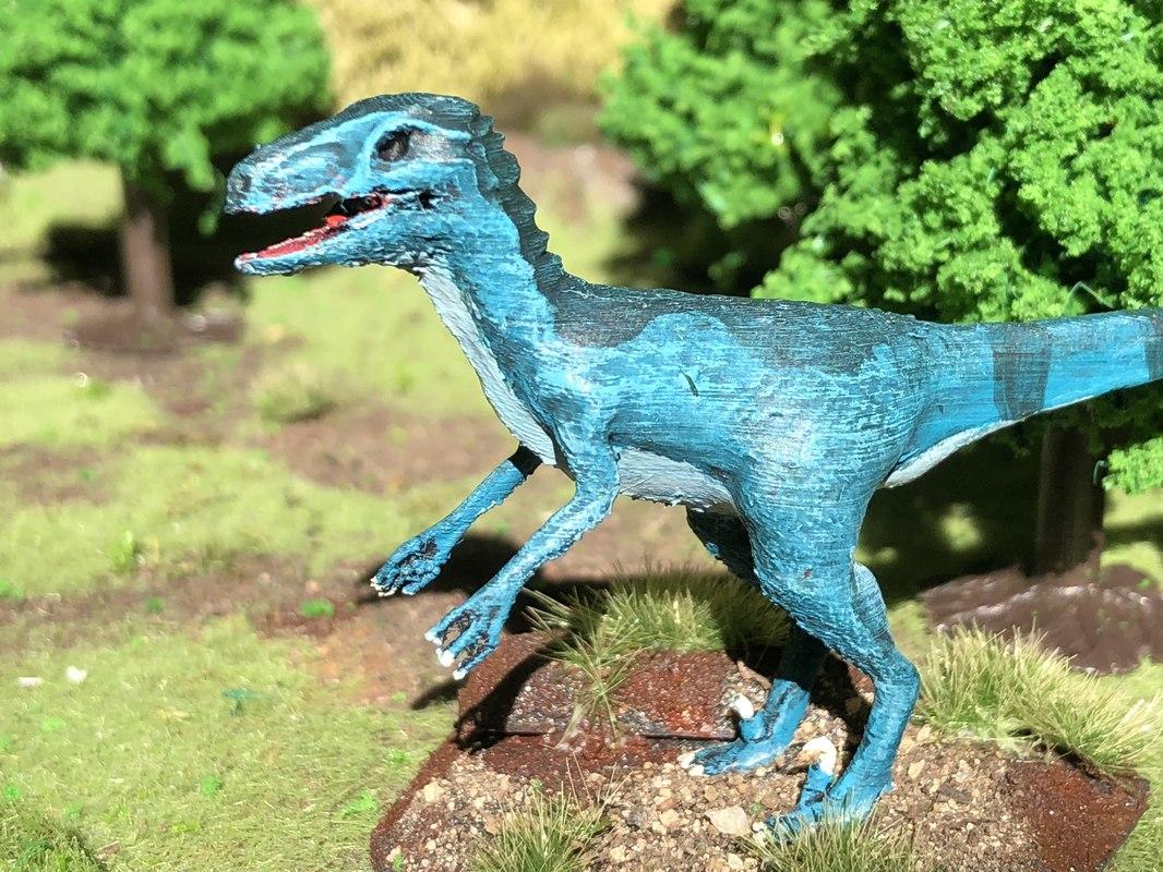 realistic velociraptor 3D model