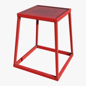 3D gym plyometric stool - model