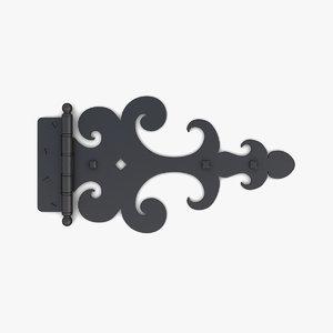 3D model retro door gate hinge