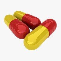 3D pill capsule color 1