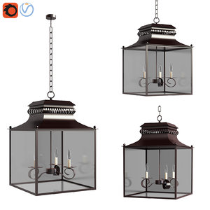 3D model bolton indooroutdoor lantern