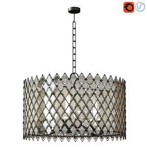 arden crystal chandelier 3D