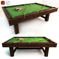 pottery barn pool table 3D model