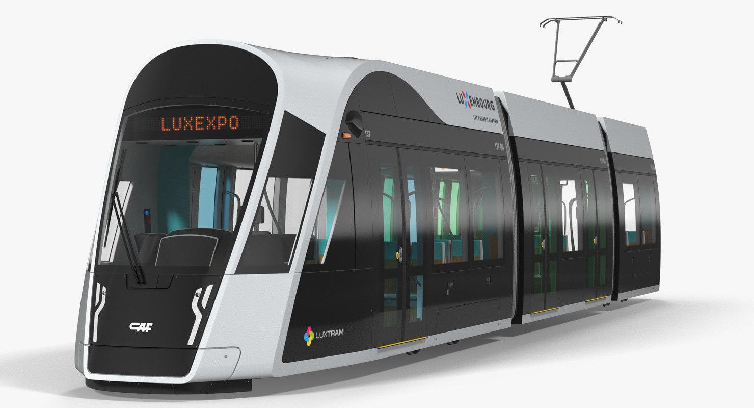 3D urbos 3 luxembourg tram model