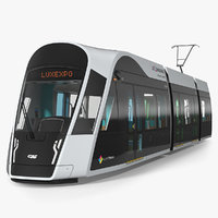 3D urbos 3 luxembourg tram model