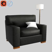 3D model pb comfort square arm