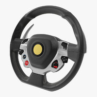 sports car steering wheel 3D