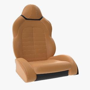 sports car seat 3D model