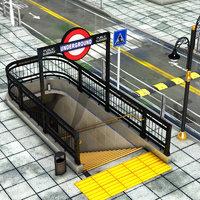 3D street entarance subway
