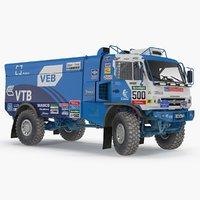 kamaz dakar racing truck 3D model