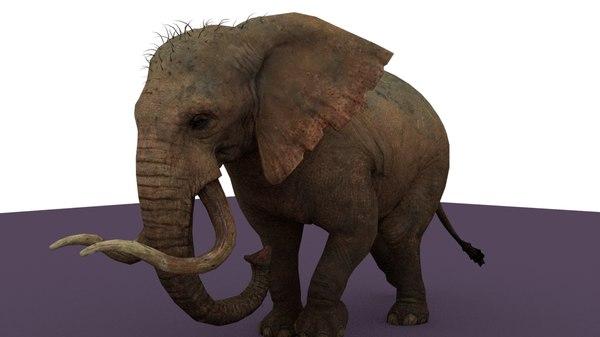 elephant rigged 3D model