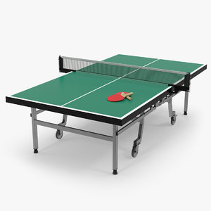 3D model ping pong table paddle