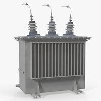 oil transformer 3D model
